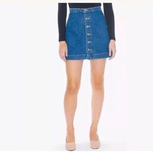 American apparel button down jean skirt M